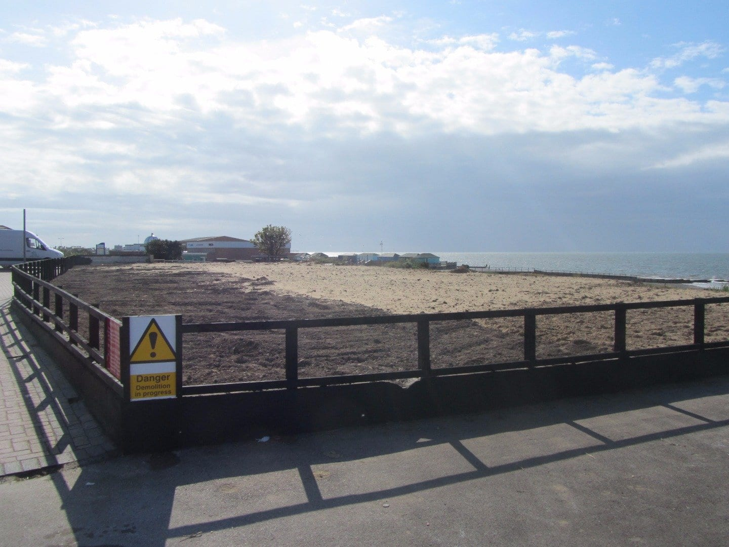 Fleetwood Pier site, May 2013 after the site had been cleaned up.
