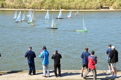 Model Yacht competition at Fleetwood boating lake