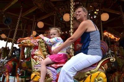 Funfair rides at Tram Sunday Fleetwood