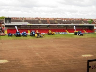 Pitch Renovation at Fleetwood Town Football Club