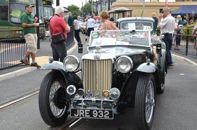 Classic vehicles at Fleetwood Tram Sunday 2013