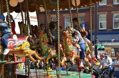 Tram Sunday 2012 carousel ride
