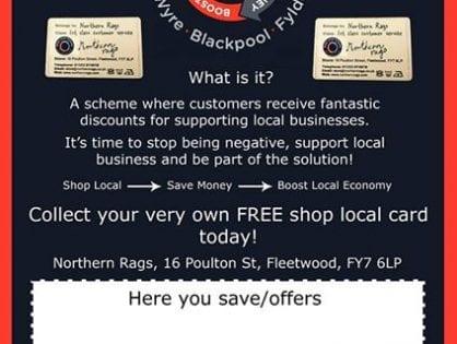 Shop Local Scheme, Wyre Blackpool, Fylde