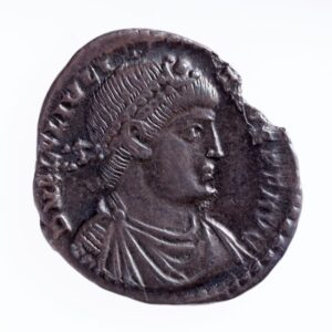 One of the Rossall Hoard coins, Emperor Julian II, from c.355-360 AD