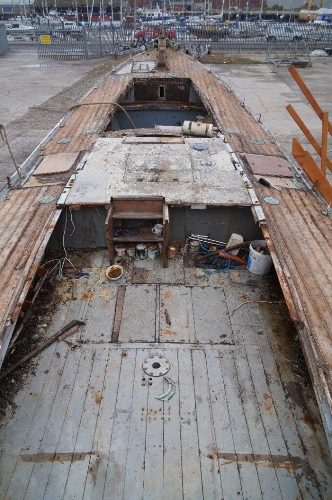 Ann Letitia Russell Lifeboat stripped down