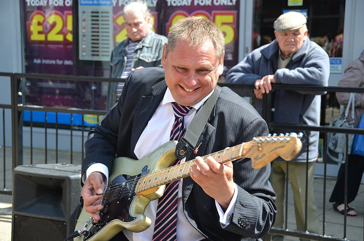 Blind Andy the guitar player at Tram Sunday