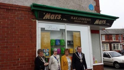 Unveiling of the blue plaque at Rimmers in Fleetwood