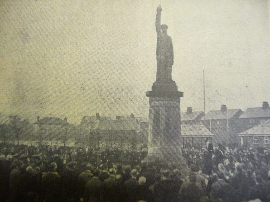 Unveiling of Fleetwood Cenotaph in 1925 from the Fleetwood Chronicle