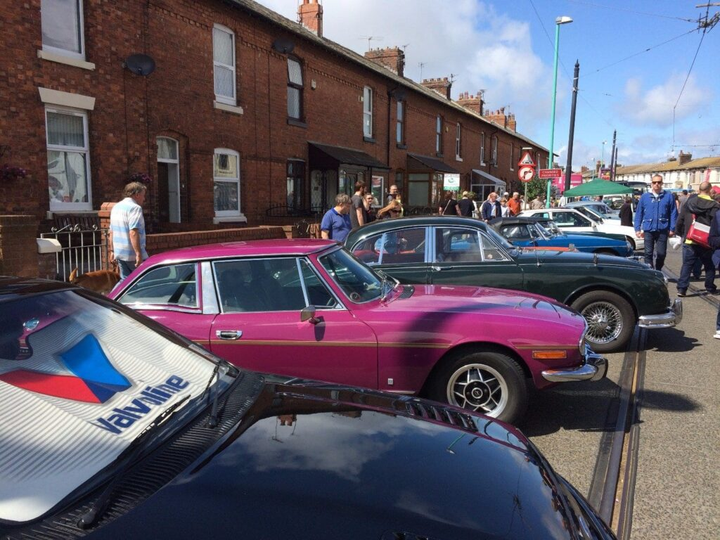 Classic cars at Fleetwood Tram Sunday
