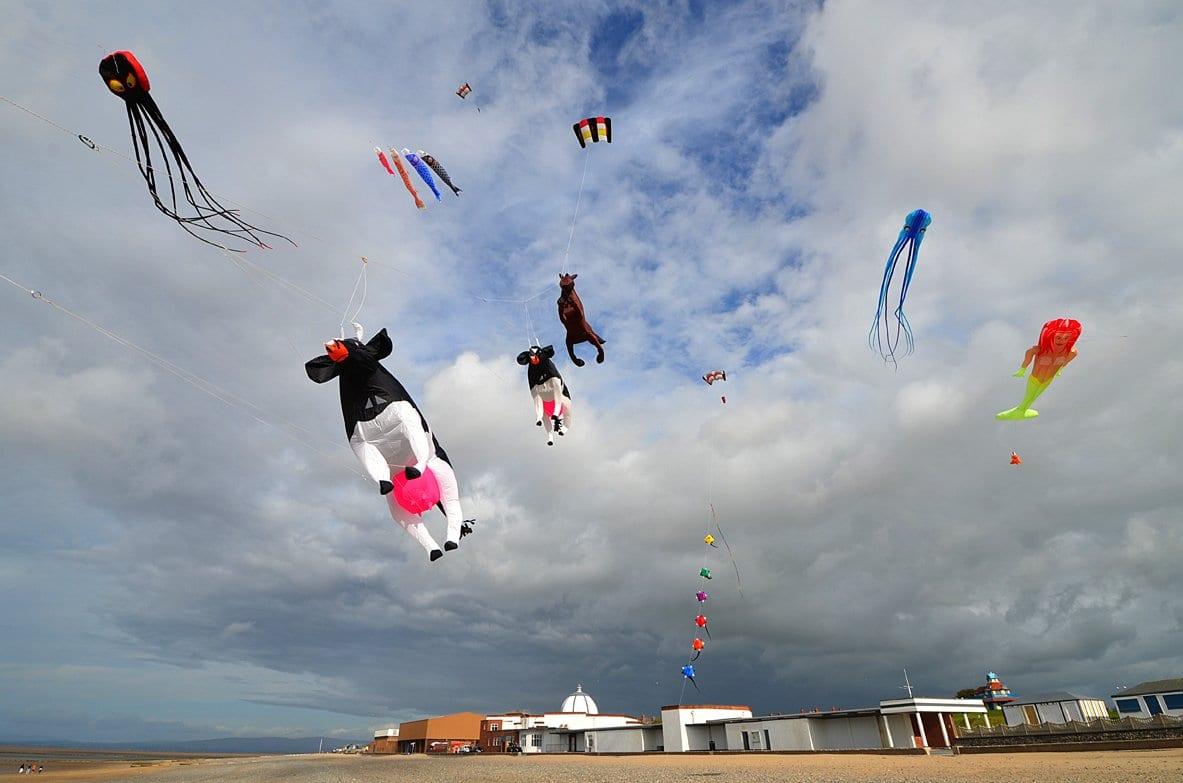 Display kites at Fleetwood kite club