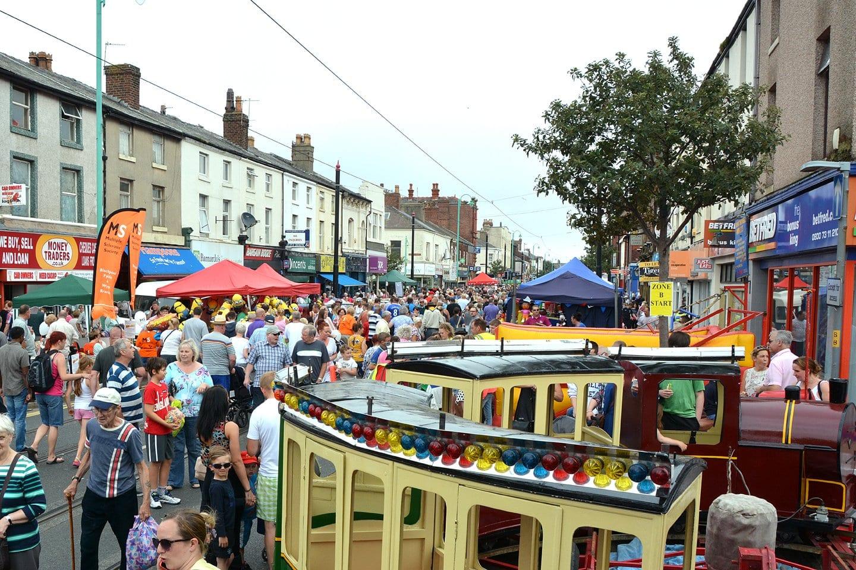 Fairground rides at Tram Sunday 2014