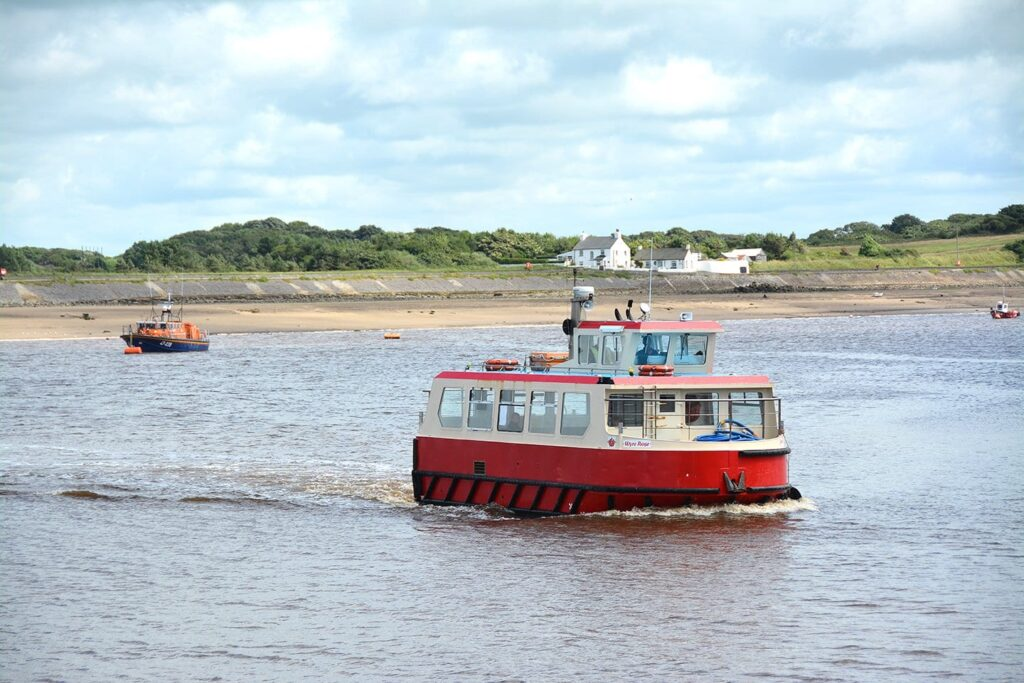 View of Knott End and the Ferry across the water from Fleetwood