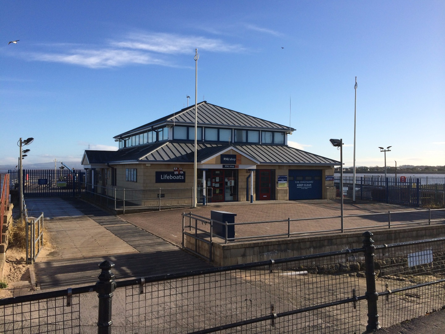 Fleetwood RNLI Lifeboat station and shop at Ferry Beach