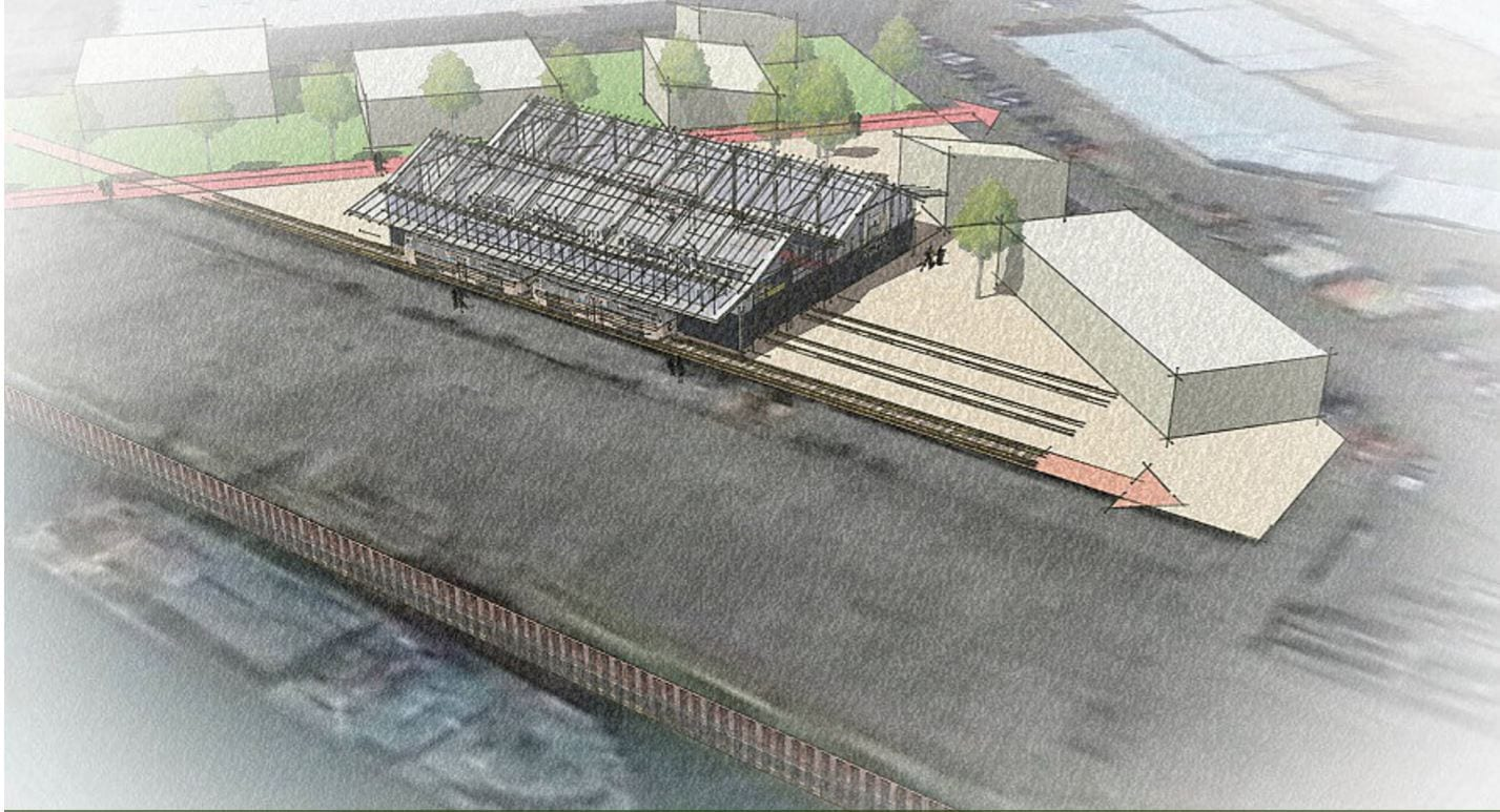 Proposal for a new Tram Museum at Wyre Dock, Fleetwood