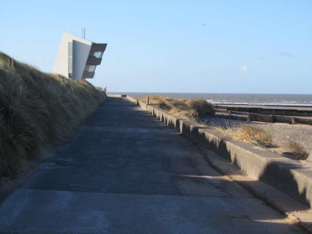 See natural sea defences against the golf course when you go walking in Fleetwood
