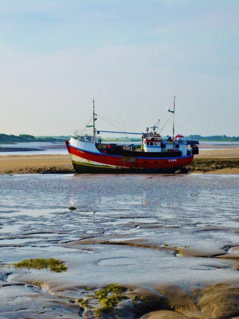 Grounded Corentine fishing boat at Fleetwood