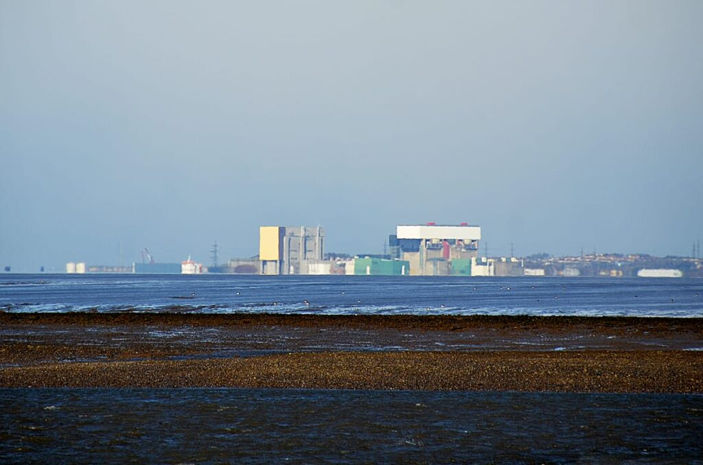 Heysham Power Station, seen over the water from Fleetwood