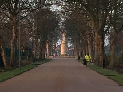 Cenotaph at Memorial Park Fleetwood