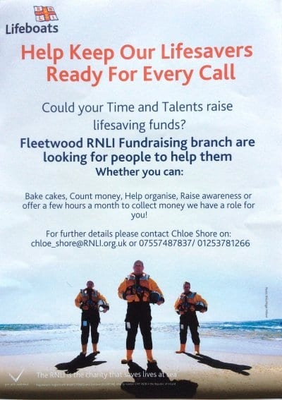 Volunteer with Fleetwood RNLI