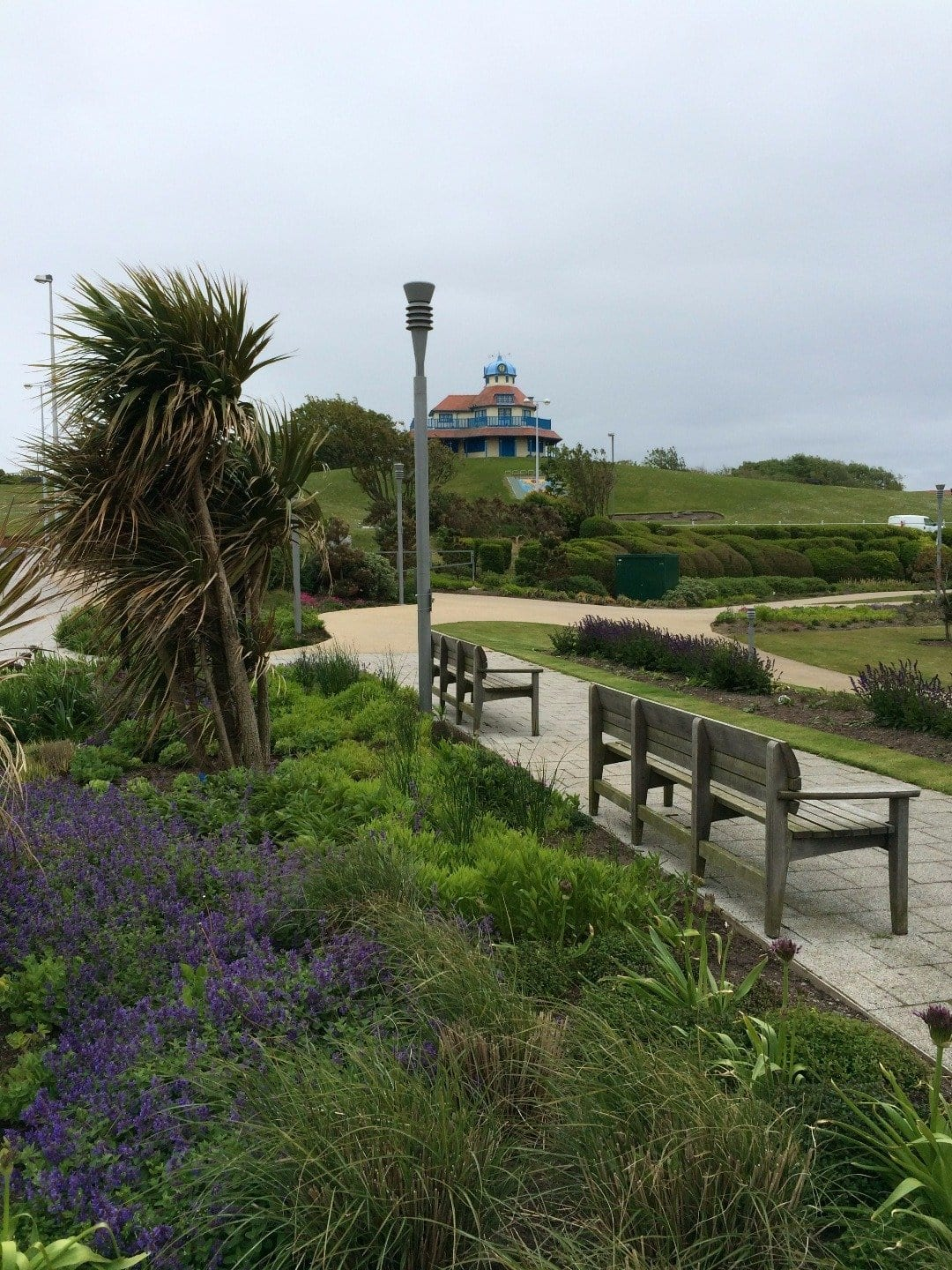 Looking across Marine Hall Gardens to the Mount