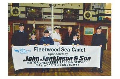 John Jenkinson Sponsors Fleetwood Sea Cadets