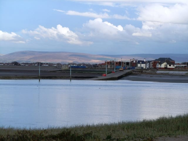 View of Knott End and the hills behind, taken back in 2012