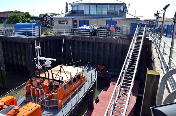 Launch facility at Fleetwood Lifeboat Station