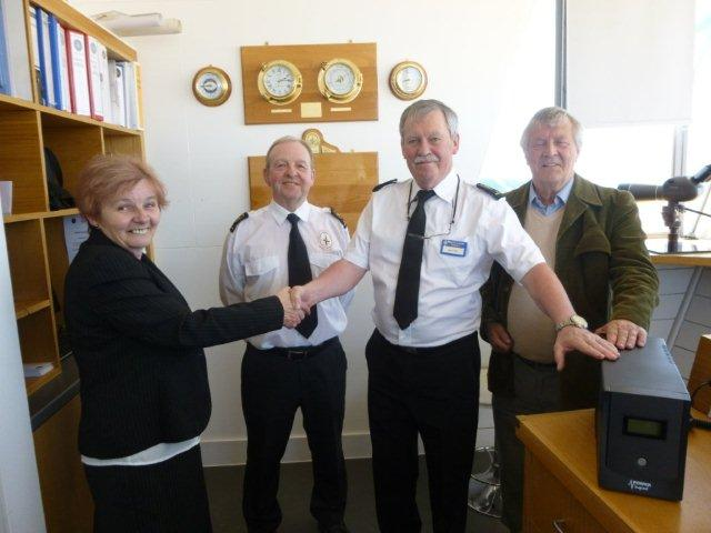 Lions donation to Rossall Coastwatch