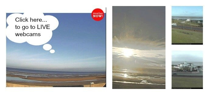 Link to live webcams from Fleetwood and the beach