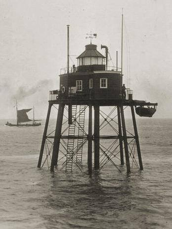 Old photo of Wyre Light