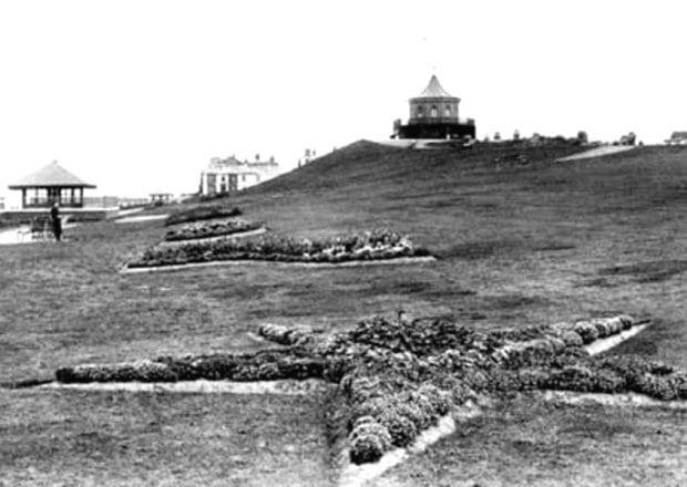 The original building on top of The Mount