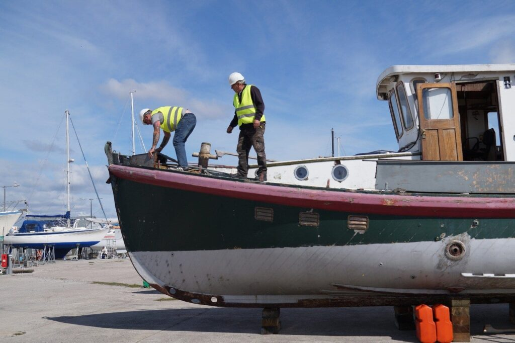 Restoring the former Fleetwood lifeboat