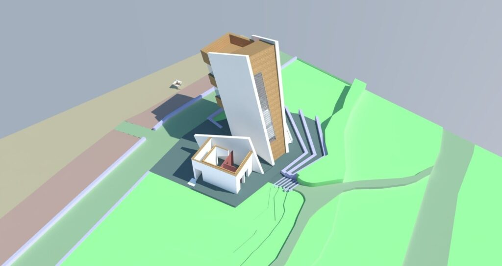 Rossall Coastwatch Tower artist's impression