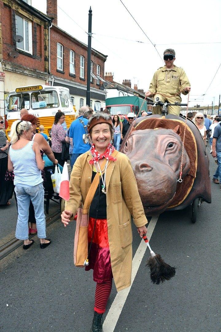 Street theatre at Tram Sunday 2014