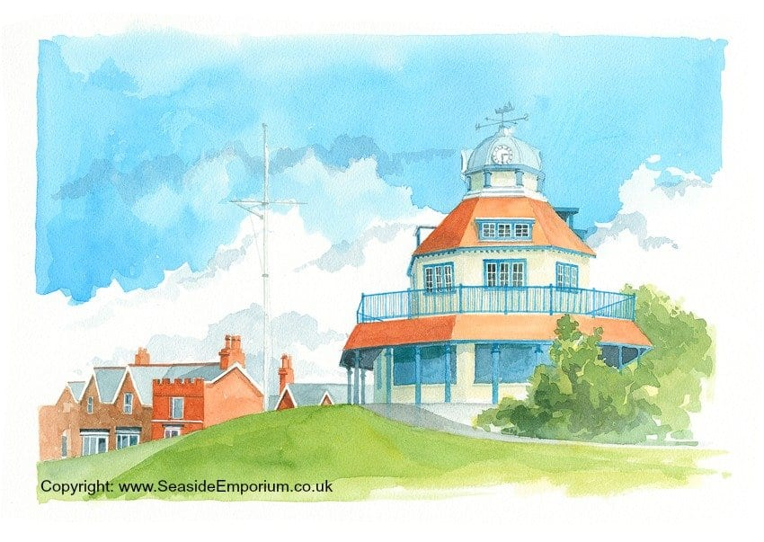 The Mount Fleetwood, watercolour painting from the Seaside Emporium