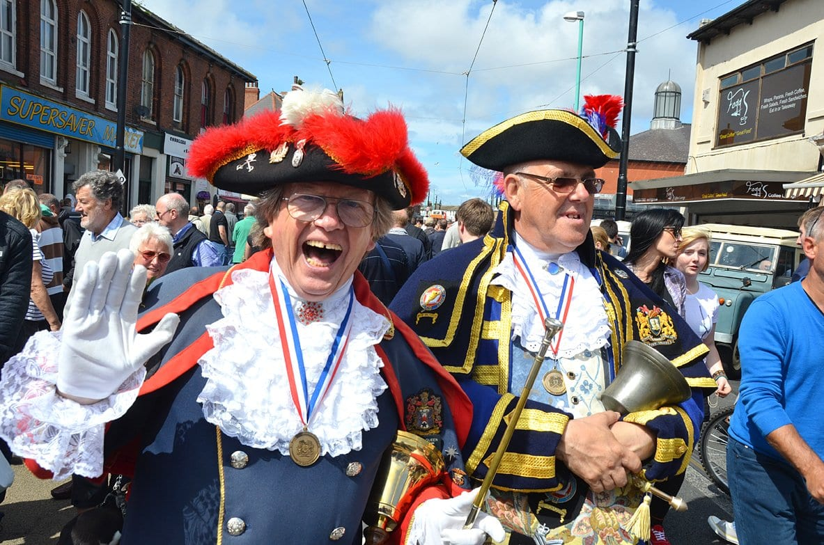 Town criers at Tram Sunday 2012