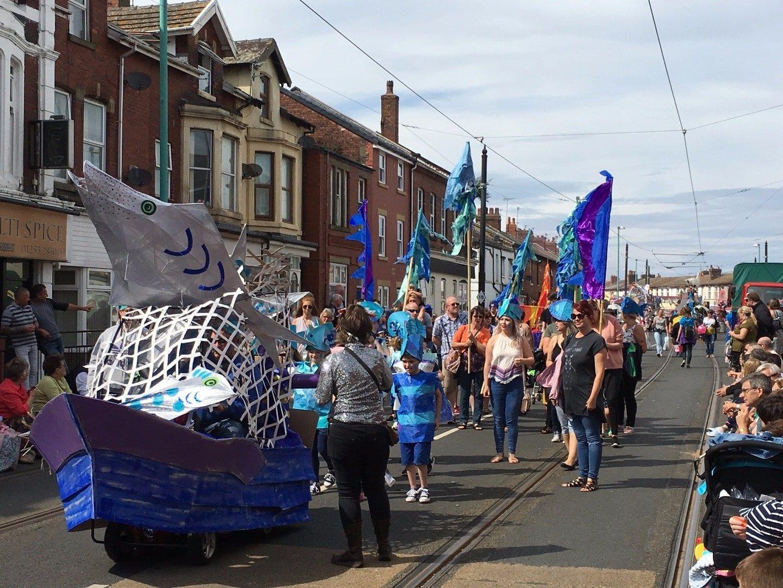 SpareParts parade at Fleetwood Tram Sunday