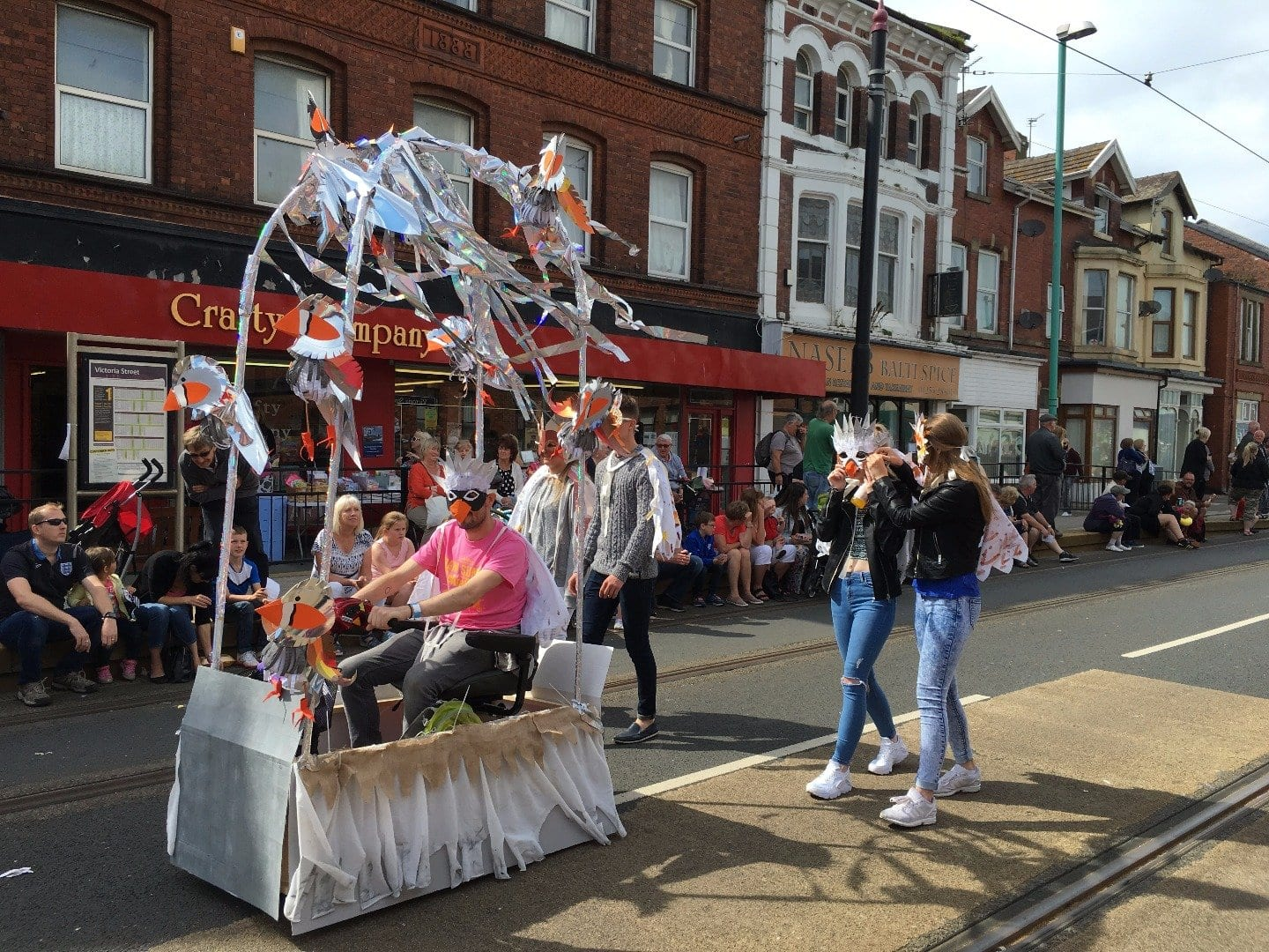 SpareParts arts parade at Fleetwood Tram Sunday