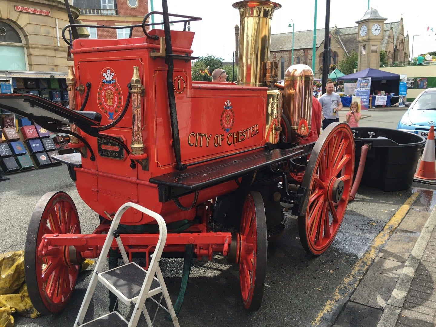 Steam Water Pump, fire engine - one of the Highlights of Tram Sunday 2018