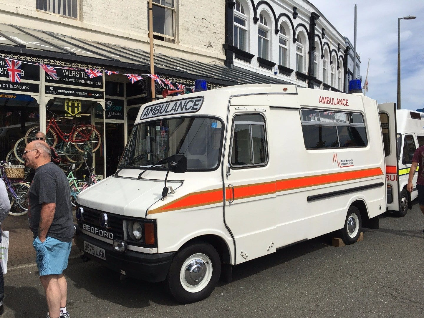 Old ambulance at Fleetwood Tram Sunday