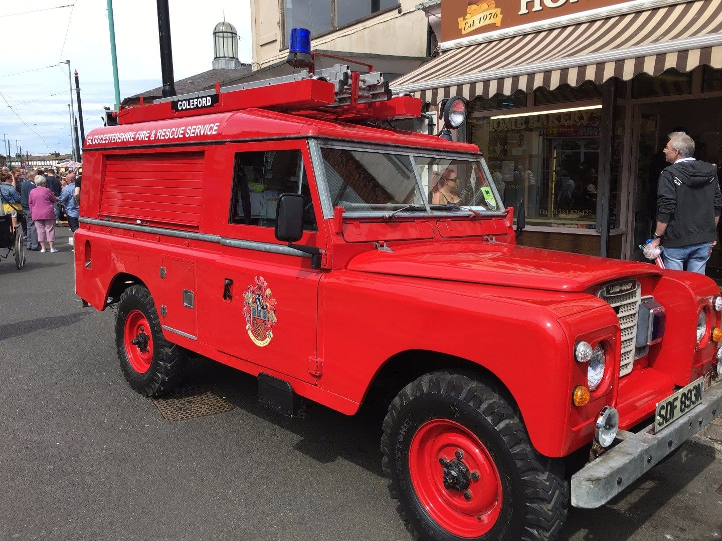 Vintage Land Rover at Fleetwood Tram Sunday