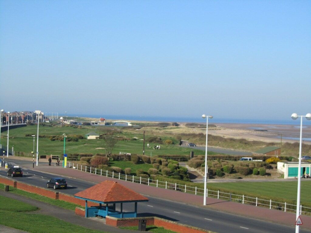 View from The Mount of where you can go walking in Fleetwood
