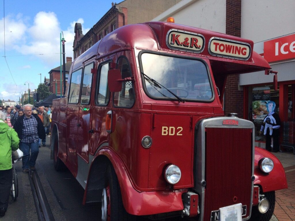 Vintage vehicle at Fleetwood Tram Sunday