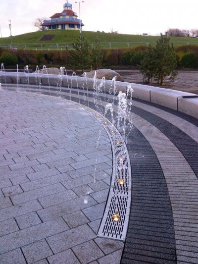 Water feature at Marine Hall Gardens