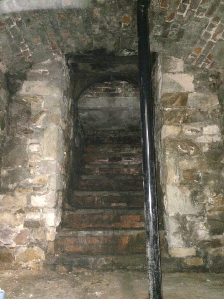 Secret passage in the Cellar at the North Euston Hotel. Does it hide an entrance to tunnels under Fleetwood?