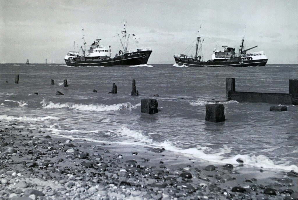 Old Fleetwood photos. Fishing boats coming into Fleetwood