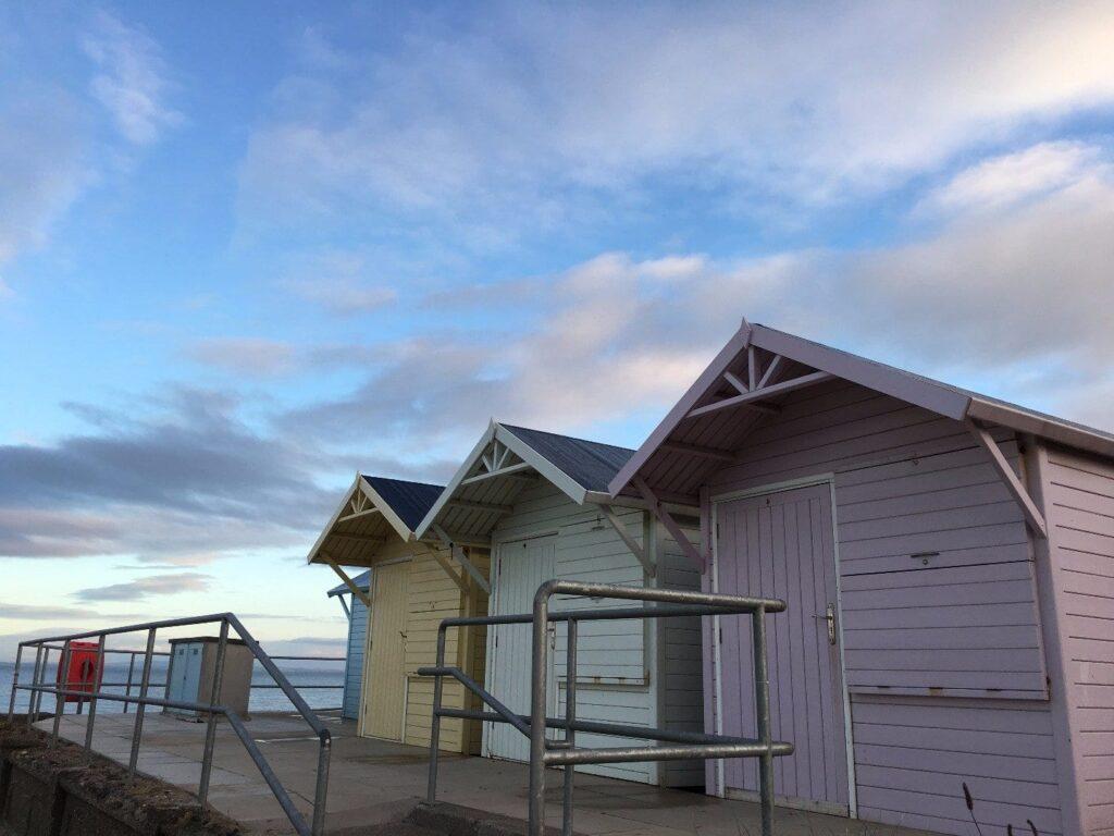 Traditional Beach huts at Marine Beach, Fleetwood