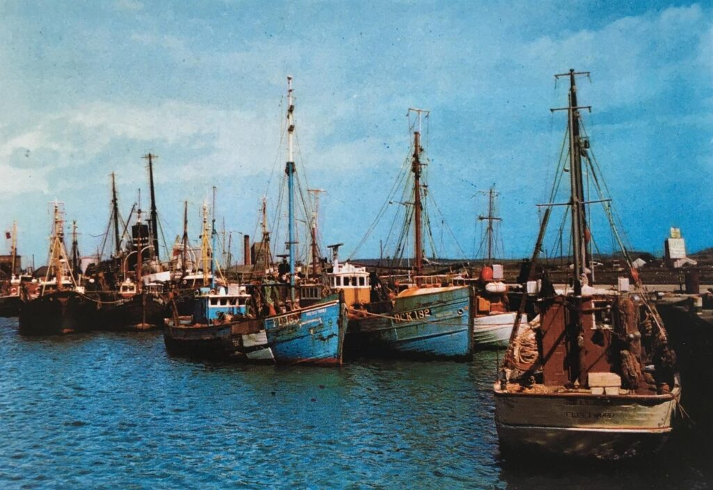 Fishing boats in Fleetwood Docks. Old Fleetwood photos