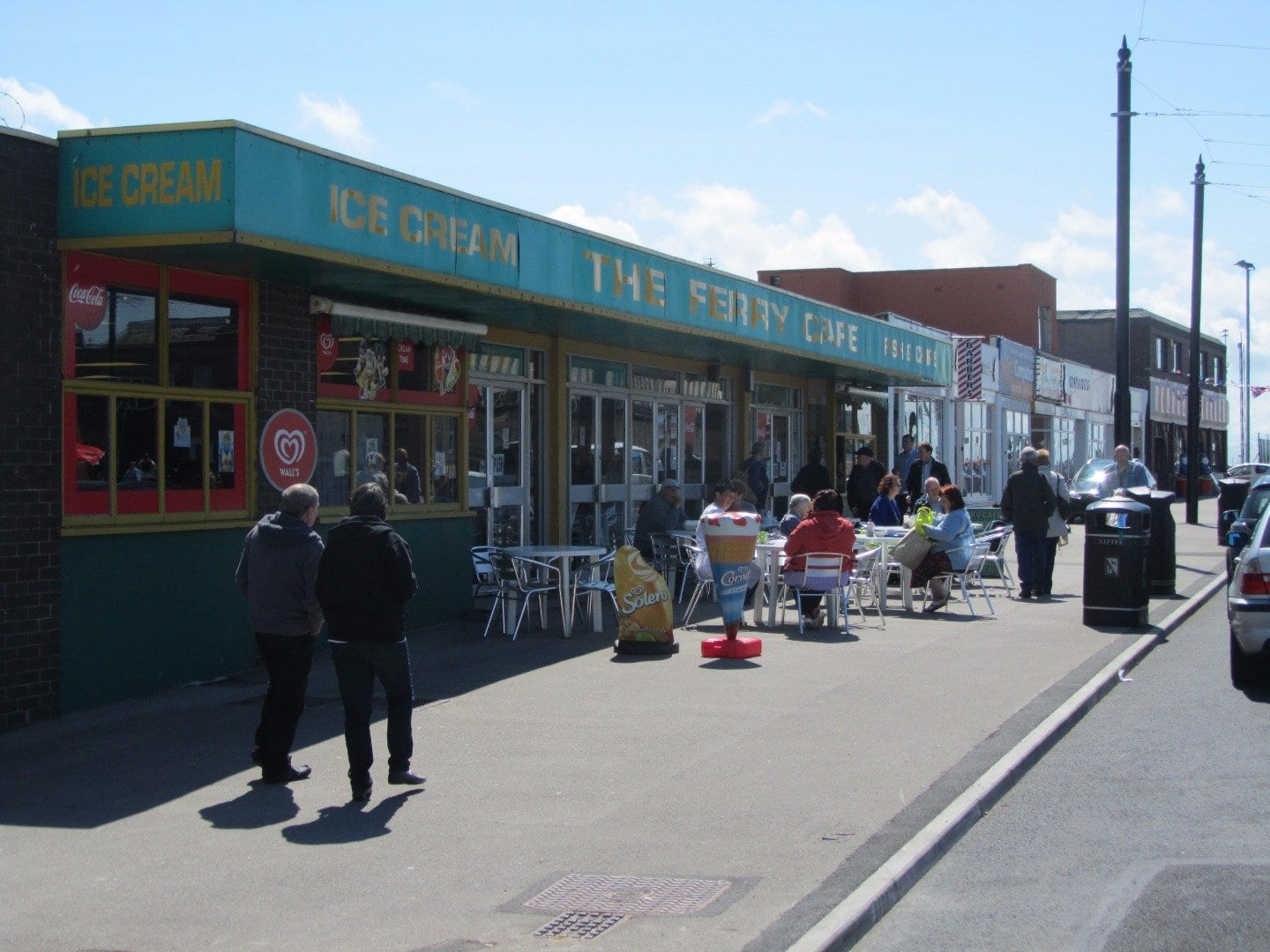 Shops and amusements at Fleetwood Esplanade next to Ferry Beach