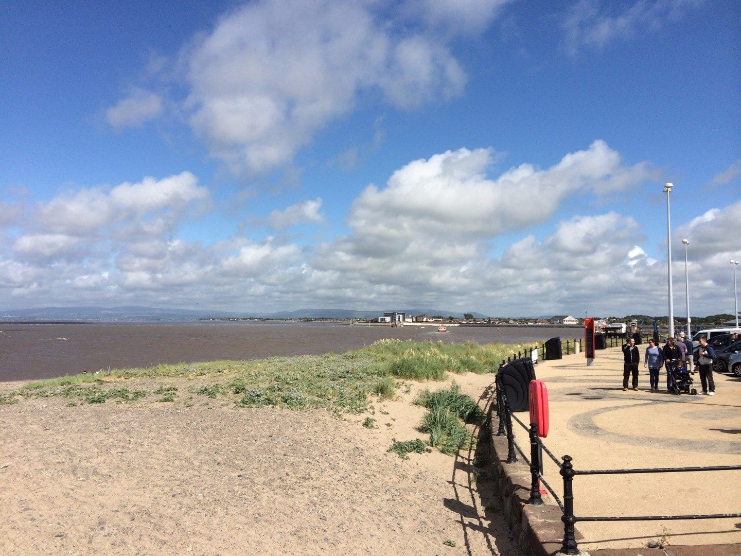 Fleetwood Ferry Beach against the Esplanade, Seaside Awards for Fleetwood Beaches
